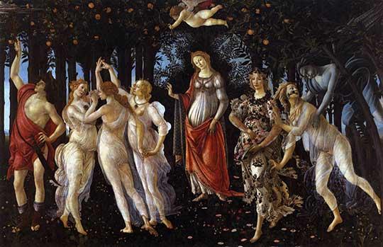 Primavera, Sandro Boticelli, 1482