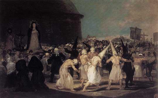 Procesí flagelantů, Francisco de Goya y Lucientes, 1812–14