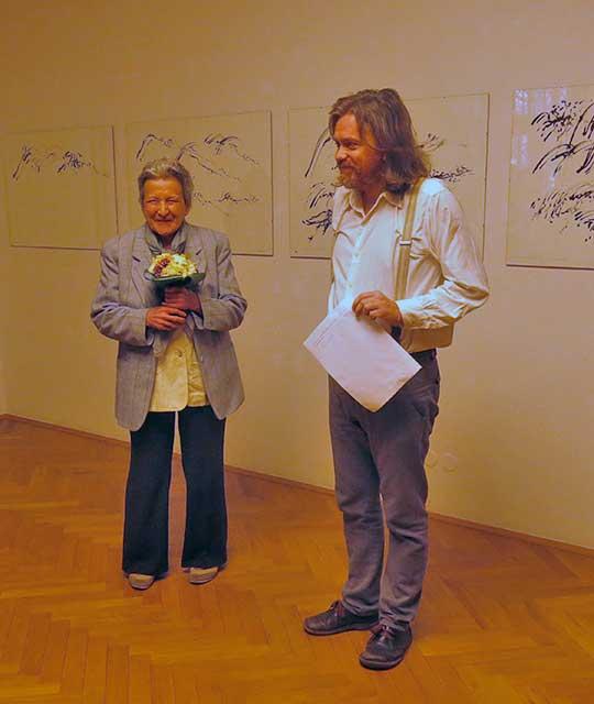 Inge Kosková aJiří Zahrádka, vernisáž výstavy 27.3.2014, foto bk