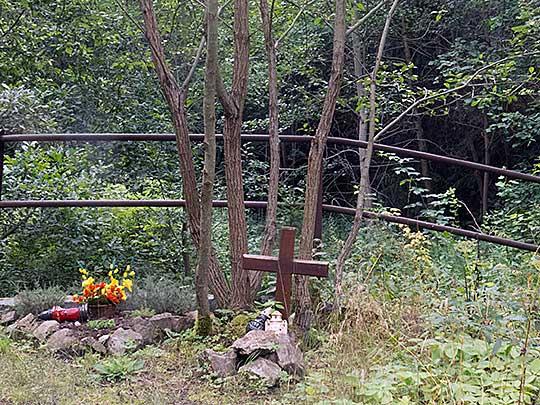 Křížek u Pucovského potoka. Foto Boris Klepal