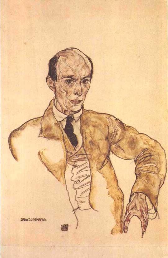 Arnold Schönberg, Egon Schiele, 1917