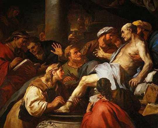 Senekova smrt. Luca Giordano, 1684