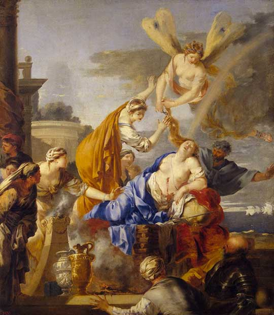 Smrt Didony, Sébastien Bourdon, 1637–40
