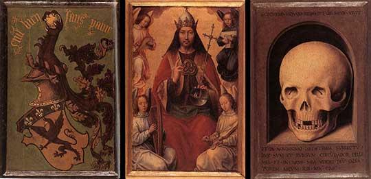 Triptych pozemské marnosti a Božské spásy. Hans Memling, 1485