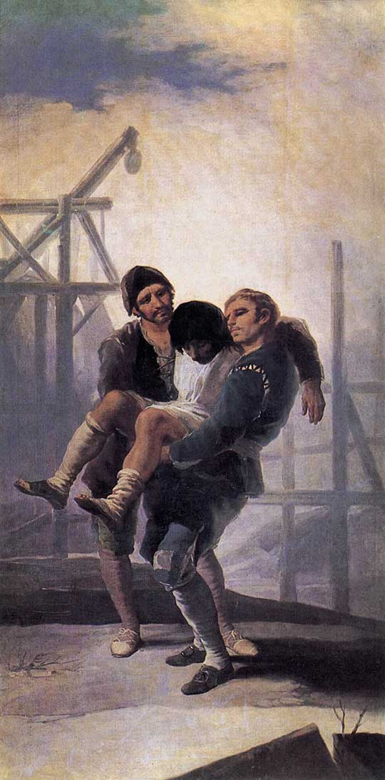 Zraněný zedník, Francisco de Goya y Lucientes, 1786–87